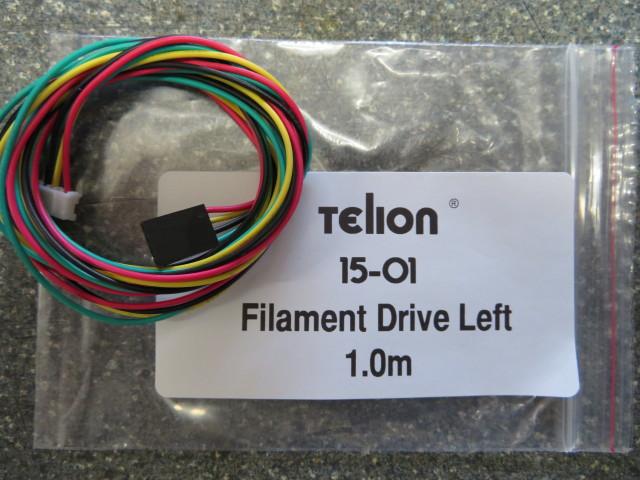 Filament drive motor cable left 1.0m