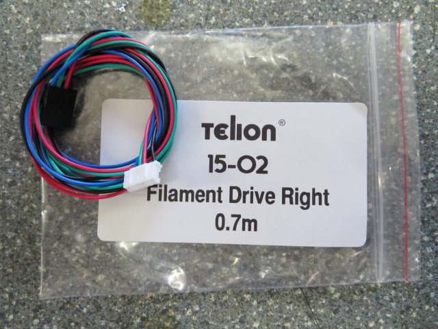 Filament drive motor cable right 0.7m