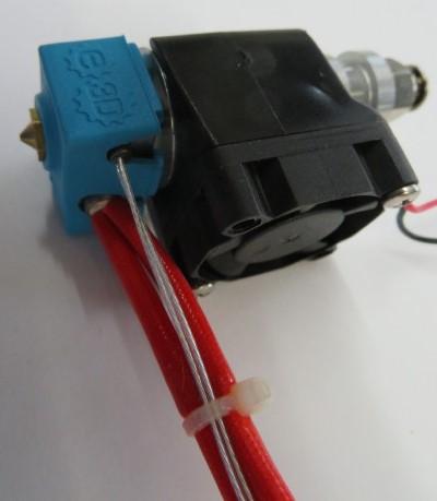 E3D-V6.1 Extruder right fully assembled with PT100 sensor