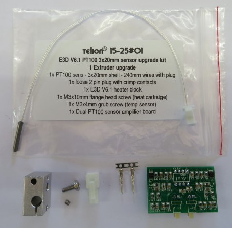 PT100 - Upgrade Kit for E3D Hot-End