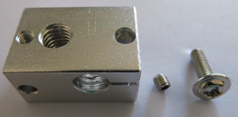 E3D V6.1 heater block (3x20mm sens)