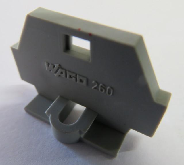 Terminal end piece grey - Wago