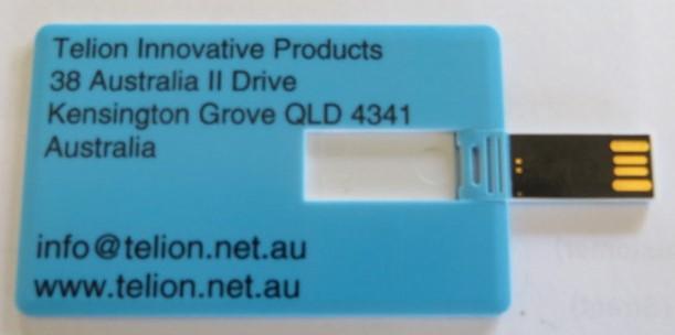 USB Falsh card - 8GB (Credit-card size)