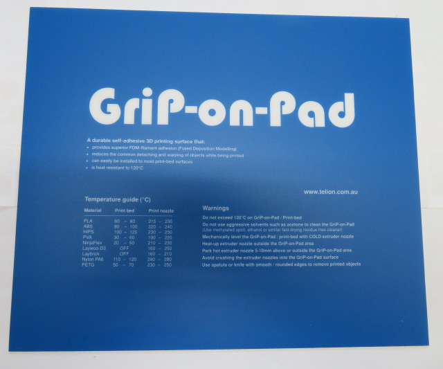 Grip On Pad - Superior print surface