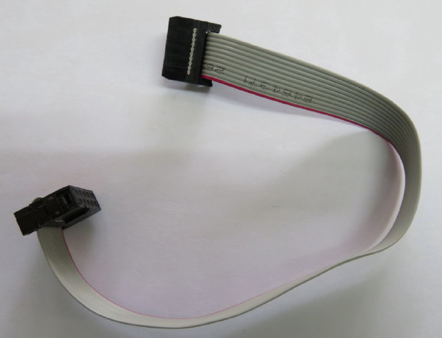 Ribbon Cable 10 pole with plugs - 200mm